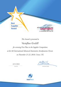 Best Automotive Aerodynamics Supplier Certificate Vectoflow